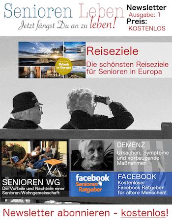 Senioren-Leben-Newsletter - Newsletter für Senioren - Rentner - ältere Menschen - Seniorenheime - Pflegeheime und Pflegepersonal