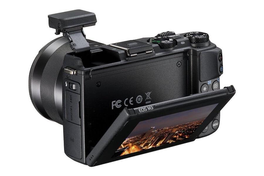 Seniorengerechte Digitalkamera - Canon EOS M3 Systemkamera - Display - Rückseite - Systemkamera für Senioren