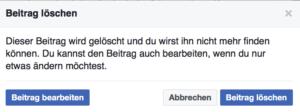 Beitrag löschen - Beiträge auf Facebook löschen - so gehts