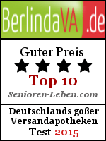 BerlindaVersandapotheke Testsiegel - guter Preis Versandapotheke 2015