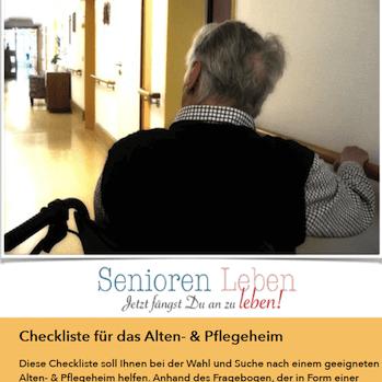 Checkliste Altenheim Pflegeheim Seniorenheim