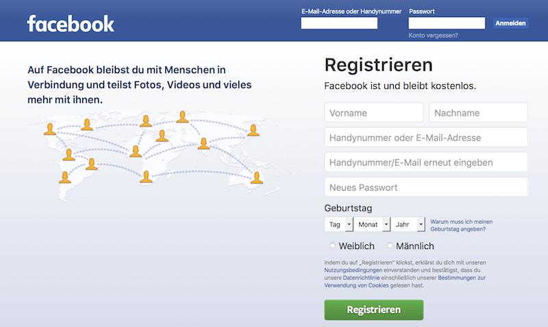 Facebook Anmeldung - Senioren Ratgeber und Anleitung zur Anmeldung bei Facebook