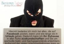 Facebook Urlaubsmitteilungen - Bilder direkt aus dem Urlaub auf Facebook teilen kann gefährlich sein