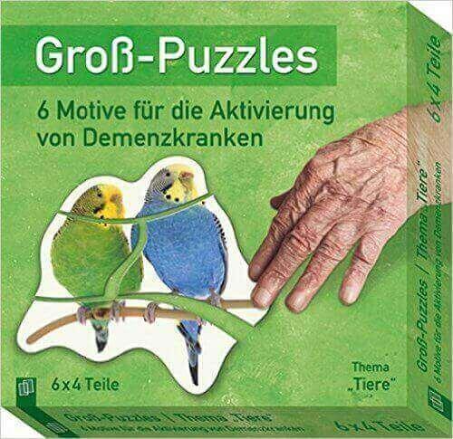 Großbild-Puzzle für Demenzkranke mit Tiermotiven