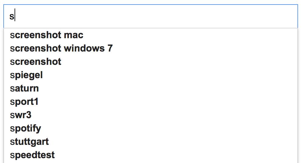 Informationen suchen und finden im Internet mit Google - Google Suchvorschläge