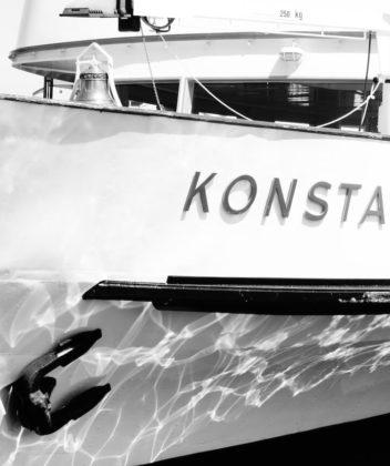 Schifffahrt am Bodensee in Konstanz mit und auf der Konstanz