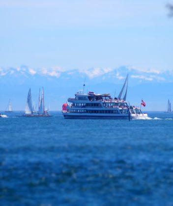 Schifffahrt am Bodensee von Konstanz mit der Konstanz