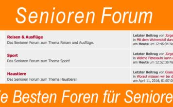 Senioren Forum - Die besten Foren für Senioren Rentner und Menschen ab 50