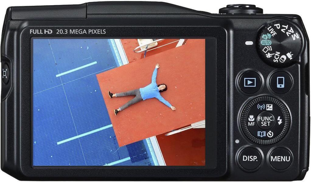 seniorengerechte digitalkamera canon powershot sx710 hs display und bedienung digitalkamera. Black Bedroom Furniture Sets. Home Design Ideas