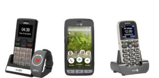 Seniorenhandy - 16 Handys für Senioren mit Notrufsystem GPS Ortung einfacher Bedienung und großen Tasten und Display