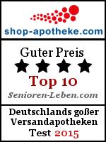 Shop-Apotheke Testsiegel - guter Preis Versandapotheke 2015