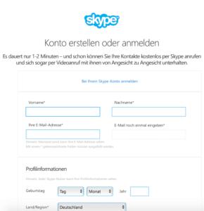 Skype Mitgliedschaft für Rentner und Senioren - Erstellen Sie jetzt kostenlos ihr Skype Konto